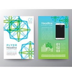 Brochure flyer design layout template in a4 size vector