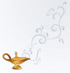 Magic old arabian oil lamp vector
