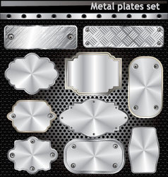 Metal plates set vector