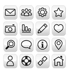 Website menu internet navigation stroke buttons vector