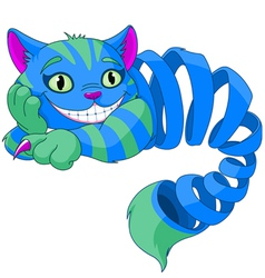 Disappearing cheshire cat vector