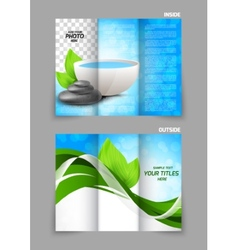 Spa salon beauty tri-fold brochure vector