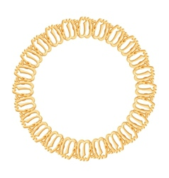 Round frame on a white background - gold chain vector