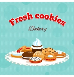 Bakery retro poster vector