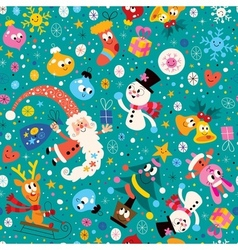 Merry christmas and happy new year pattern 2 vector