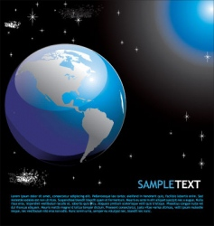 Planet earth background vector