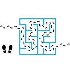 Maze solutions vector