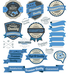 Set of vintage badges and design elements vector