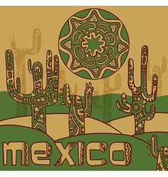 Background with traditional mexican ornament vector