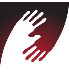 Yin yang hand print vector