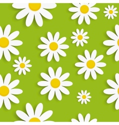 Flora daisy seamless pattern design vector