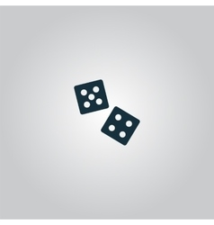 Dice icon vector