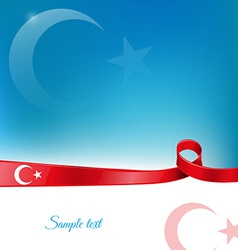 Turkey ribbon flag background vector