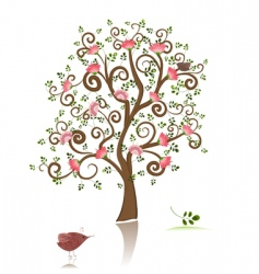 Flowering ornamental tree vector