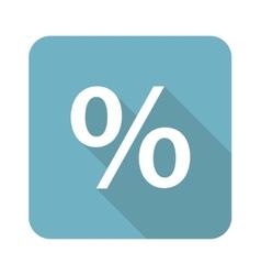 Square percent icon vector