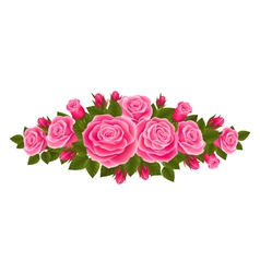 Beautiful border of roses vector
