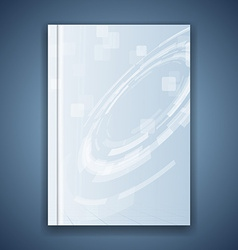 Metal blue folder template hi-tech element vector