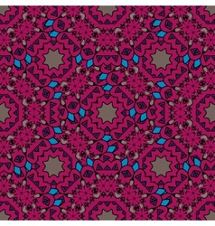 Vintage purple seamless pattern with filigree vector