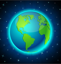 Neon earth - america vector