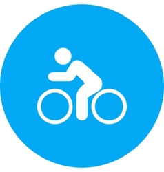 Cycling person vector
