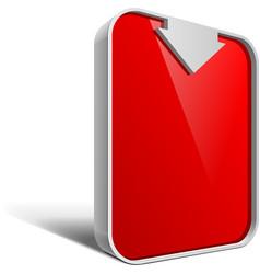 Shiny gloss red banner eps 10 vector