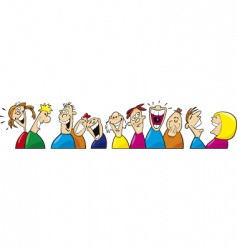 Laughing people vector