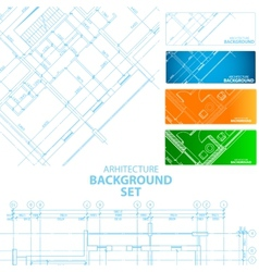 Architecture backgrounds vector