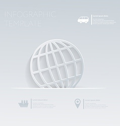 Globe theme holidays template infographic or vector