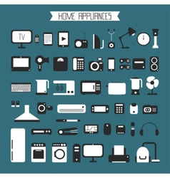 Set of electronic devices and home appliances vector