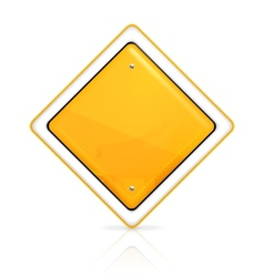 Priority road sign vector