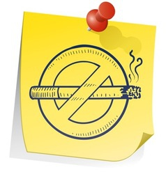 Doodle sticky note smoking no vector