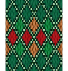 Seamless christmas knitted pattern style knit vector