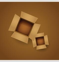 Brown cardboard box vector