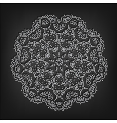 Vintage circle pattern in victorian style vector