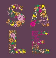 Sale floral banner vector