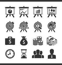 Business and financial icons set vector