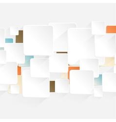 Modern origami arrow style options banner vector