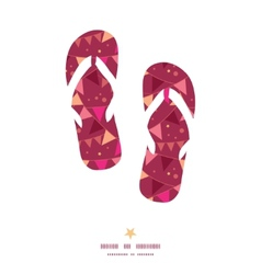 Christmas decorations flags flip flops silhouettes vector