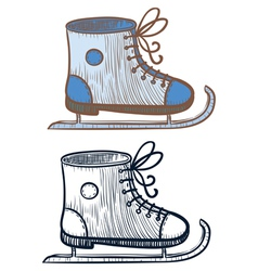 Ice-skating shoe vector