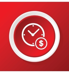 Time money icon on red vector