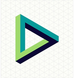 Abstract impossible triangle sign shape vector