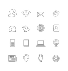Communication icons outline vector
