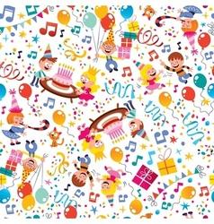 Happy birthday kids party pattern 4 vector
