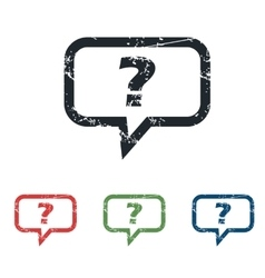 Question grunge icon set vector