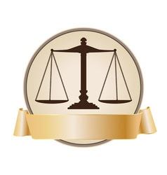 Justice symbol vector