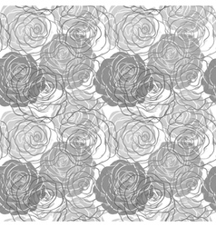 Black and white seamless pattern in roses vector