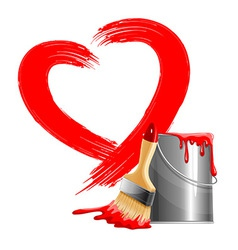 Painted heart vector