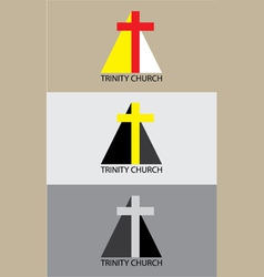 Trinity church icon vector