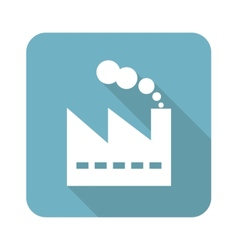 Square factory icon vector