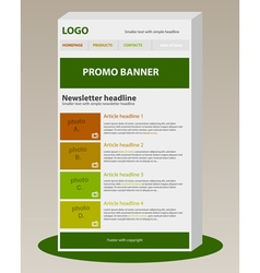 Newsletter template with business style vector